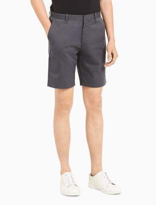 Calvin Klein slim fit striped twill shorts