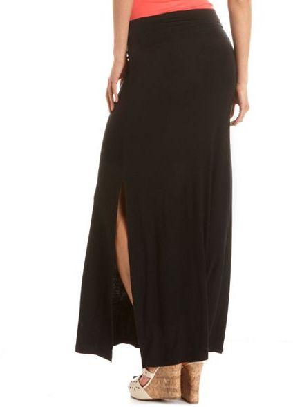 Charlotte Russe Double Side Slit Maxi Skirt
