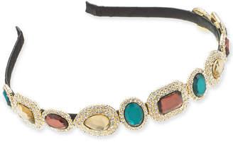 INC International Concepts I.n.c. Gold-Tone Pave & Stone Satin-Wrapped Headband