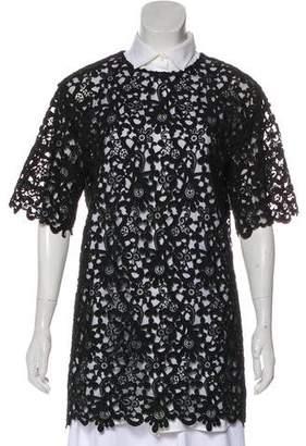 Valentino Lace Short Sleeve Tunic