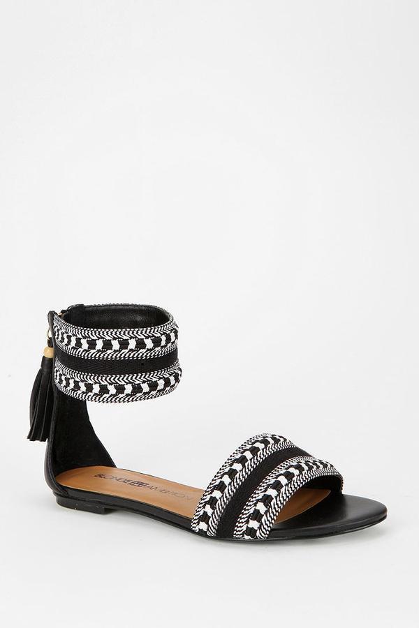 Blonde Ambition Tassel Ankle-Strap Sandal