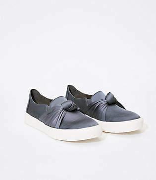 LOFT Satin Knot Slip On Sneakers