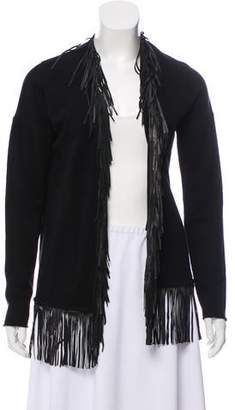 Allude Merino Wool and Cashmere Open Front Cardigan