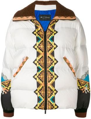 Etro Rainbow padded jacket
