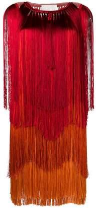 Alberta Ferretti fringed gradient dress