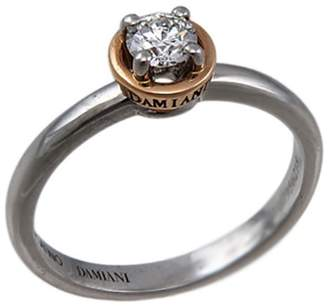 Damiani Platinum and Rose Gold Diamond Ring