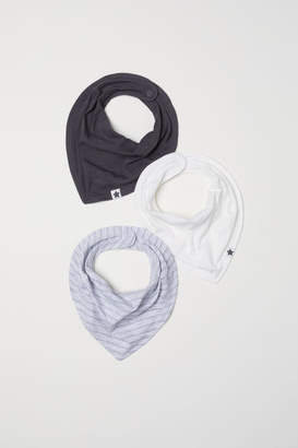 H&M 3-pack Triangular Scarves - Gray
