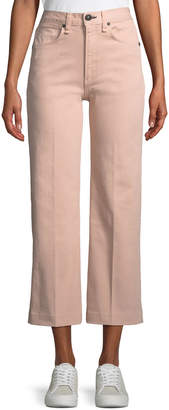 Rag & Bone Justine High-Rise Wide-Leg Crop Jeans