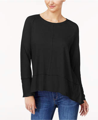 Style & Co Cotton High-Low Top, Created for Macy's $34.50 thestylecure.com
