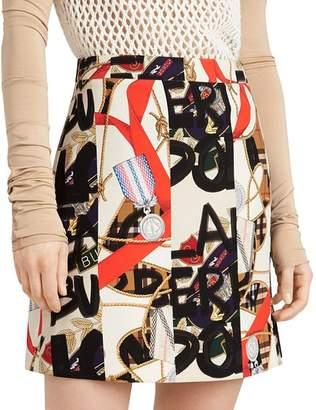 Burberry Stanforth Printed Mini Skirt