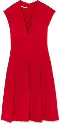 Stella McCartney Lace-up Stretch-cady Dress - Red