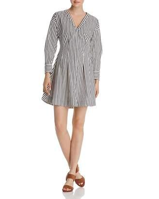 Theory Striped Shirt Dress