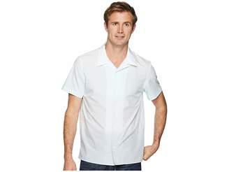 Calvin Klein Short Sleeve Ombre Camp Shirt Men's Clothing