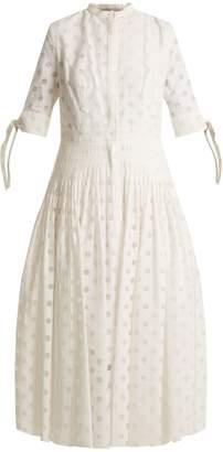 Carolina Herrera Polka-dot pleated dress