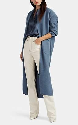 Zero Maria Cornejo Women's Kota Alpaca-Wool Open-Front Cocoon Coat - Dusty Blue