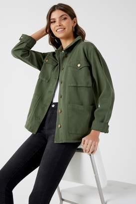 Next Womens Boohoo Denim Utility Jacket