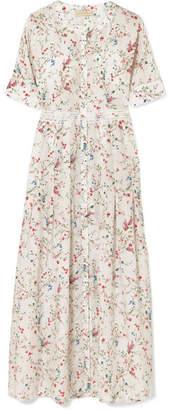 DAY Birger et Mikkelsen Paloma Blue Luna Lace-trimmed Floral-print Silk Midi Dress