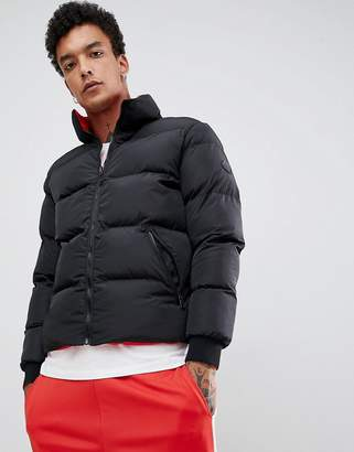 Criminal Damage reversible puffer jacket in black