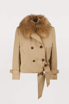 Each X Other Faux-fur collar coat