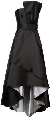 Sachin + Babi Taksim asymmetric flared gown