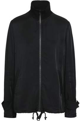 A.L.C. Monico Bead-embellished Sateen Turtleneck Jacket