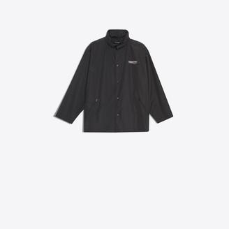 Balenciaga logo printed lightweight raincoat