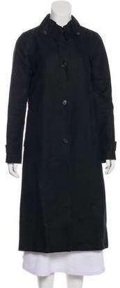 Barneys New York Barney's New York Button-Up Long Coat