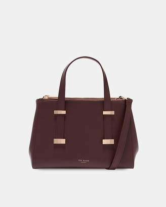 Ted Baker ALYSSAA Faceted bow leather tote bag