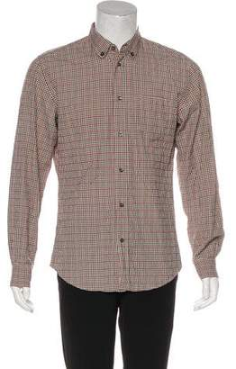 Bottega Veneta Plaid Button-Up Shirt