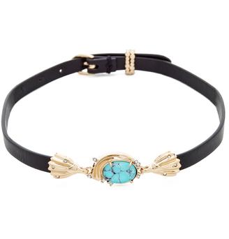Alexis Bittar Golden Array Choker Necklace $175 thestylecure.com