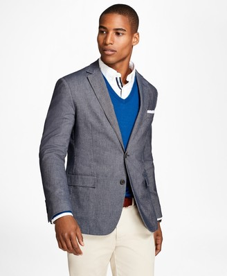 Brooks Brothers Heathered Stretch Cotton Twill Sport Coat