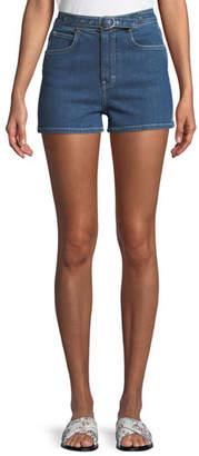 Rag & Bone Derby Belted High-Waist Denim Shorts
