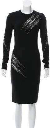 Emilio Pucci Embellished Wool Dress
