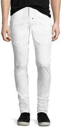 PRPS Skinny Stretch-Denim Moto Jeans