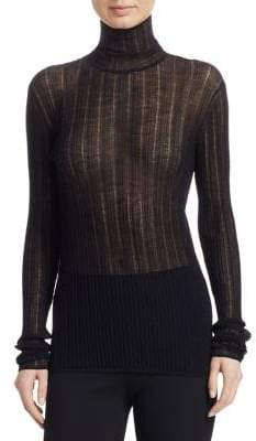 Theory Sheer Wool-Blend Turtleneck