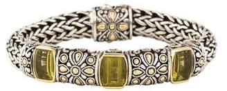 John Hardy Lemon Quartz Jaisalmer Link Bracelet