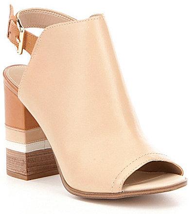 AldoAldo Cartiera Peep-Toe Block Heel Leather Shooties