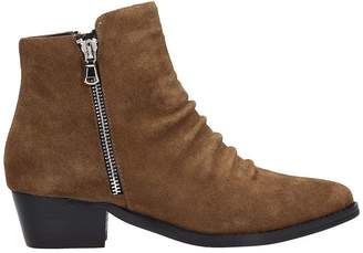 Bibi Lou Brown Suede Leather Boots