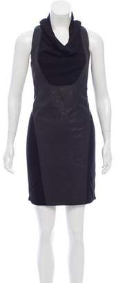 Helmut Lang Leather-Accented Mini Dress w/ Tags