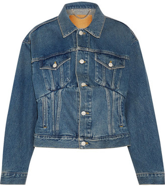 Balenciaga - Denim Jacket - Blue $995 thestylecure.com