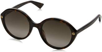 Gucci Brown Gradient Havana Round Sunglasses