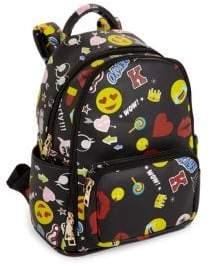 Bari Lynn Kid's Printed Emoji Backpack