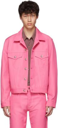 Helmut Lang Pink Denim Masc Trucker Jacket