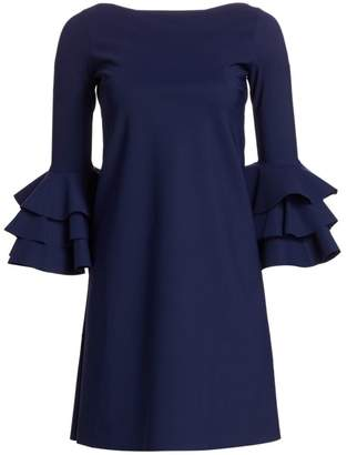 Chiara Boni May Tiered Bell Sleeve A-Line Dress