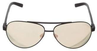 David Yurman 24k Gold-Plated Aviator Sunglasses