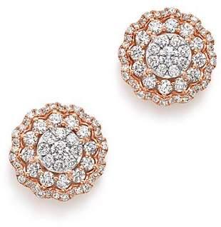Bloomingdale's Diamond Flower Burst Stud Earrings in 14K Rose Gold, 1.75 ct. t.w. - 100% Exclusive