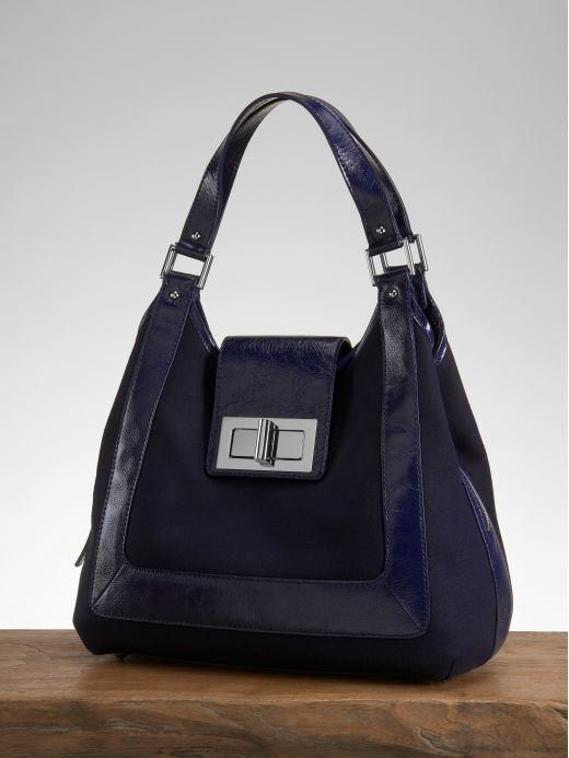 Kensington triangle canvas shoulder bag - Midnight blue
