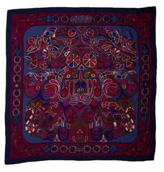 Hermes Folklore Cashmere Shawl