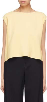 Theory Boat neck cropped sleeveless top