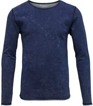 KNOWLEDGE COTTON APP Indigo Cotton Sweatshirt